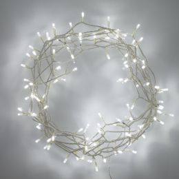 100 White Indoor Fairy Lights for Bedroom Living Room with White LED Clear Cable